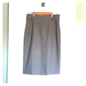 Mexx Grey Wool Pencil Skirt